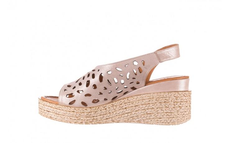 Sandały bayla-112 0414-1390 beż, skóra naturalna  - koturny - buty damskie - kobieta 2