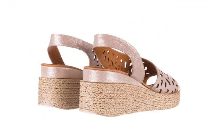 Sandały bayla-112 0414-1390 beż, skóra naturalna  - koturny - buty damskie - kobieta 3