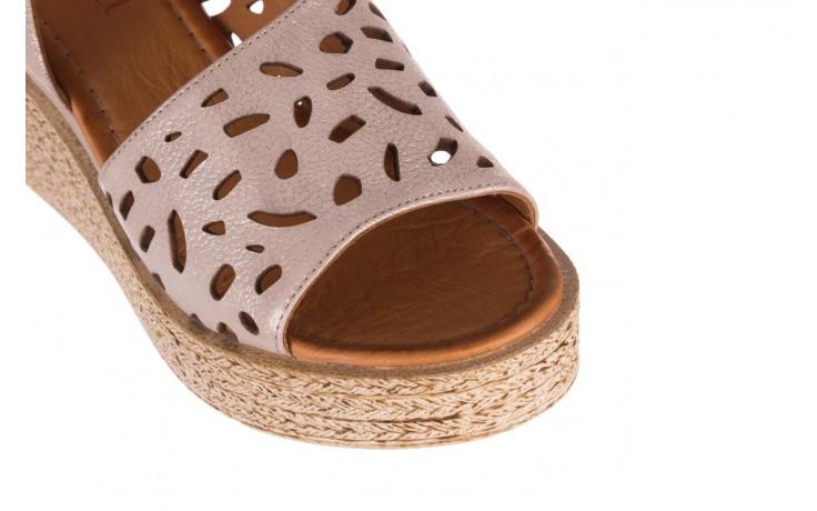 Sandały bayla-112 0414-1390 beż, skóra naturalna  - koturny - buty damskie - kobieta 5