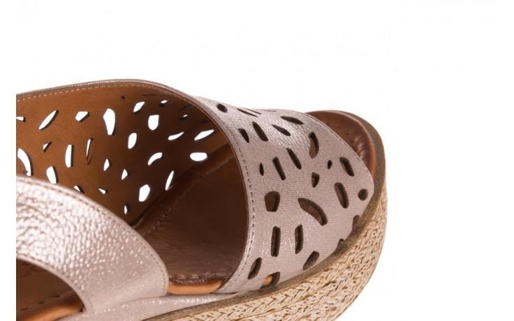 Sandały bayla-112 0414-1390 beż, skóra naturalna  - koturny - buty damskie - kobieta 6