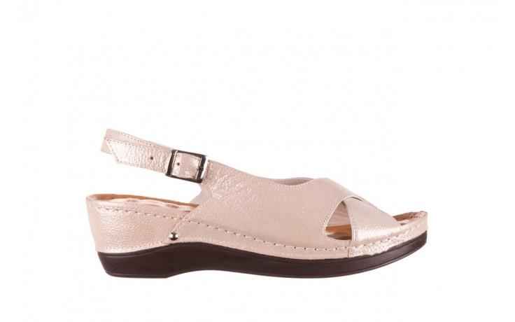 Sandały bayla-112 0158-58 beż, skóra naturalna  - na koturnie - sandały - buty damskie - kobieta