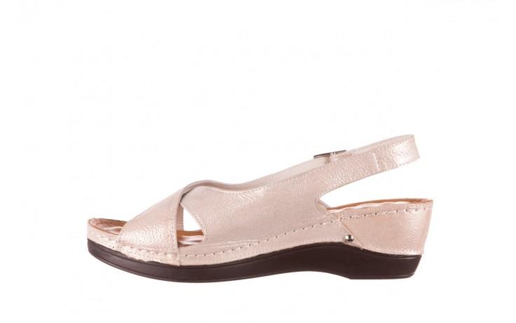 Sandały bayla-112 0158-58 beż, skóra naturalna  - na koturnie - sandały - buty damskie - kobieta 2