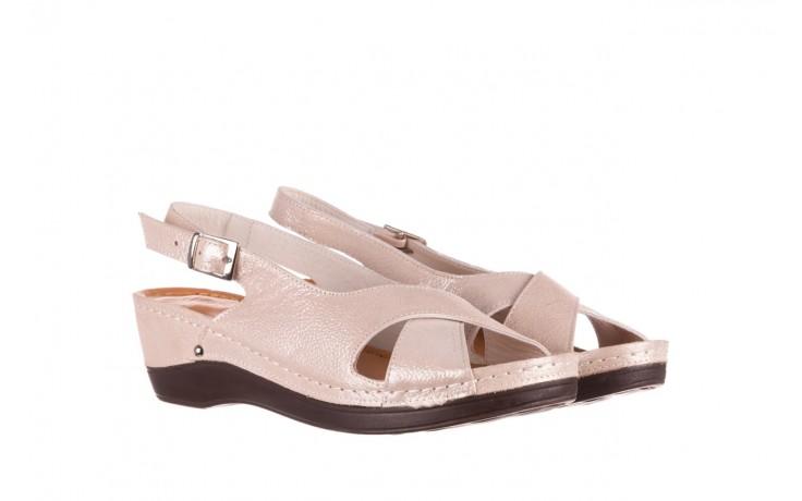 Sandały bayla-112 0158-58 beż, skóra naturalna  - na koturnie - sandały - buty damskie - kobieta 1