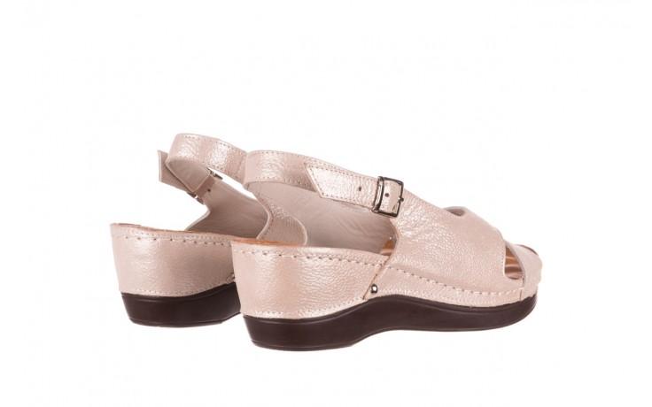 Sandały bayla-112 0158-58 beż, skóra naturalna  - na koturnie - sandały - buty damskie - kobieta 3