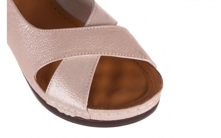Sandały bayla-112 0158-58 beż, skóra naturalna  - na koturnie - sandały - buty damskie - kobieta 5