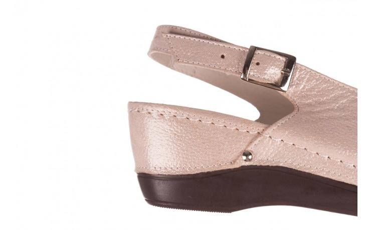 Sandały bayla-112 0158-58 beż, skóra naturalna  - na koturnie - sandały - buty damskie - kobieta 6