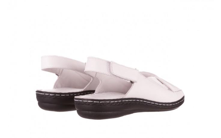 Sandały bayla-112 0277-411-453 biały, skóra naturalna  - bayla - nasze marki 3