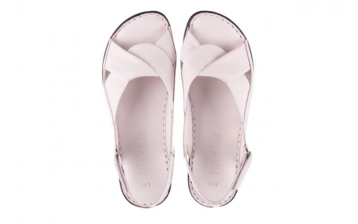 Sandały bayla-112 0277-411-453 biały, skóra naturalna  - bayla - nasze marki 4