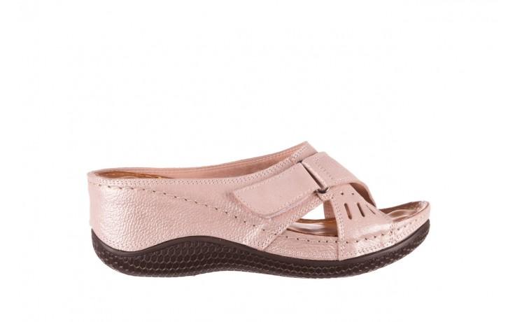 Klapki bayla-112 0001-444-bs43 róż, skóra naturalna  - klapki - buty damskie - kobieta