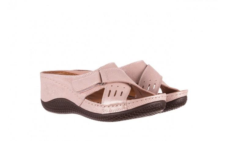 Klapki bayla-112 0001-444-bs43 róż, skóra naturalna  - klapki - buty damskie - kobieta 1