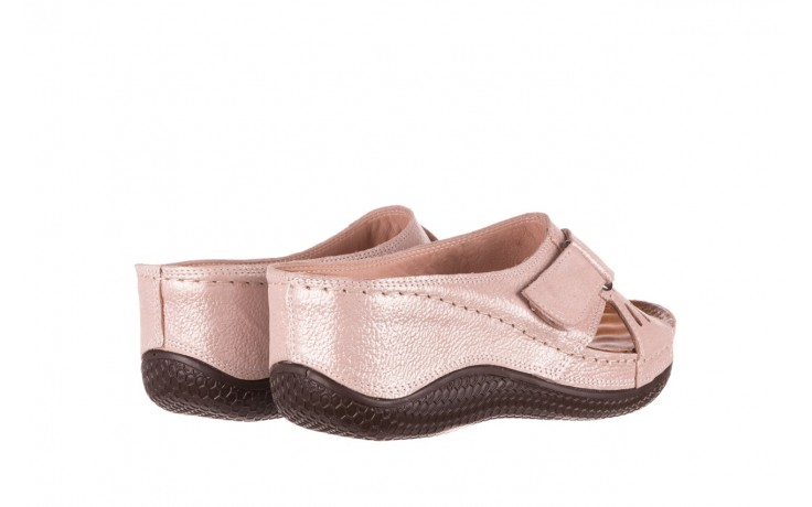 Klapki bayla-112 0001-444-bs43 róż, skóra naturalna  - klapki - buty damskie - kobieta 3