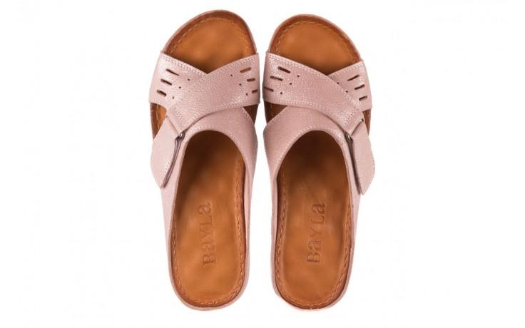 Klapki bayla-112 0001-444-bs43 róż, skóra naturalna  - klapki - buty damskie - kobieta 4
