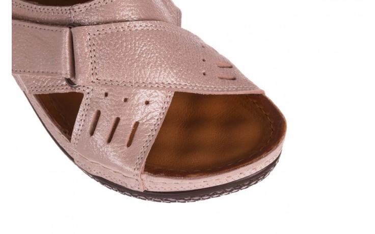 Klapki bayla-112 0001-444-bs43 róż, skóra naturalna  - klapki - buty damskie - kobieta 5