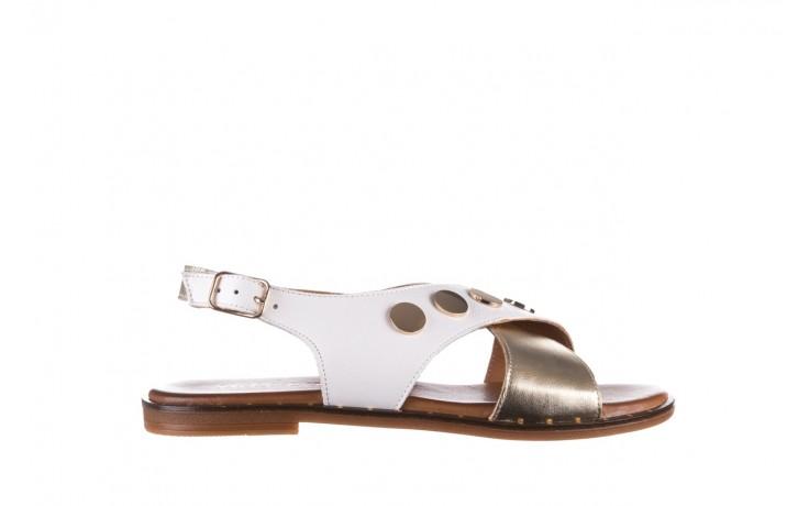 Sandały bayla-176 117z biały złoty, skóra naturalna  - bayla - nasze marki