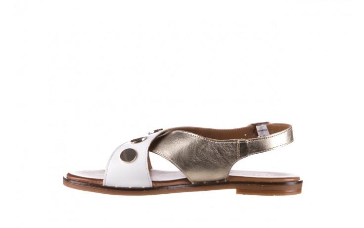 Sandały bayla-176 117z biały złoty, skóra naturalna  - bayla - nasze marki 2