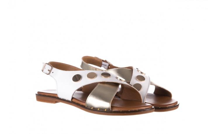 Sandały bayla-176 117z biały złoty, skóra naturalna  - bayla - nasze marki 1