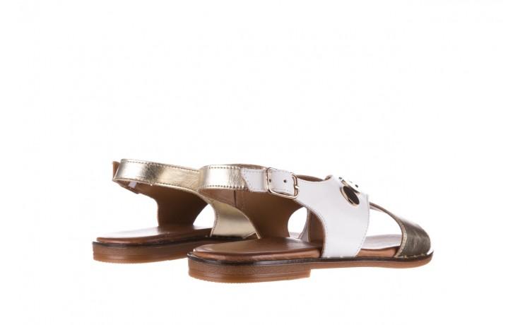 Sandały bayla-176 117z biały złoty, skóra naturalna  - bayla - nasze marki 3