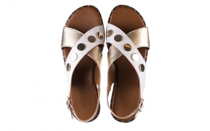 Sandały bayla-176 117z biały złoty, skóra naturalna  - bayla - nasze marki 4
