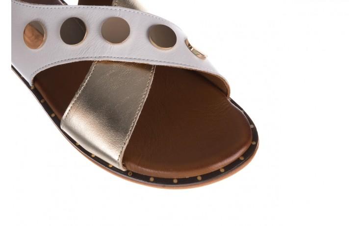 Sandały bayla-176 117z biały złoty, skóra naturalna  - bayla - nasze marki 5