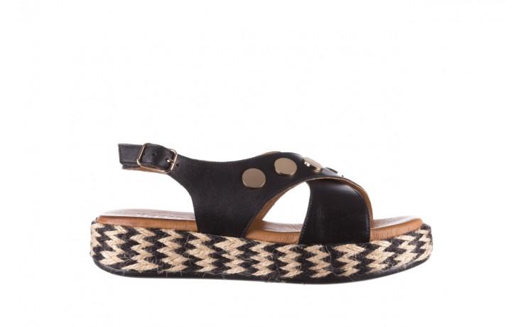 Sandały bayla-176 1414 czarny, skóra naturalna  - na platformie - sandały - buty damskie - kobieta