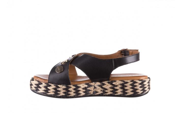 Sandały bayla-176 1414 czarny, skóra naturalna  - na platformie - sandały - buty damskie - kobieta 2