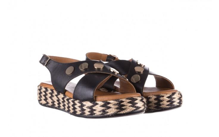 Sandały bayla-176 1414 czarny, skóra naturalna  - na platformie - sandały - buty damskie - kobieta 1