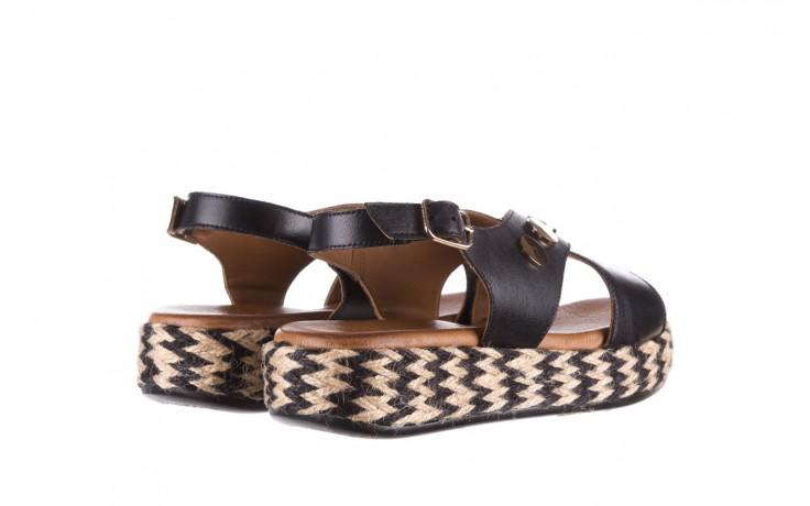 Sandały bayla-176 1414 czarny, skóra naturalna  - na platformie - sandały - buty damskie - kobieta 3