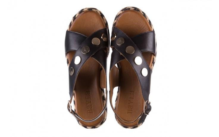 Sandały bayla-176 1414 czarny, skóra naturalna  - na platformie - sandały - buty damskie - kobieta 4
