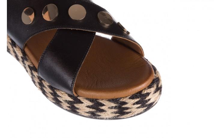 Sandały bayla-176 1414 czarny, skóra naturalna  - na platformie - sandały - buty damskie - kobieta 5