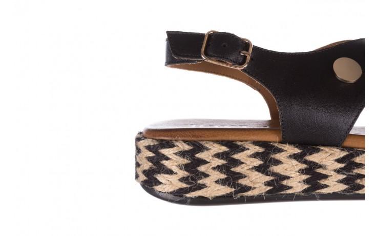 Sandały bayla-176 1414 czarny, skóra naturalna  - na platformie - sandały - buty damskie - kobieta 6