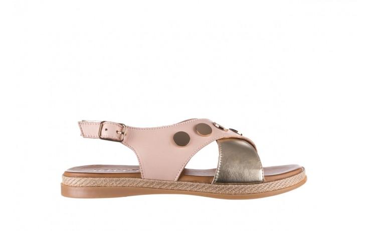 Sandały bayla-176 117 różowy złoty, skóra naturalna  - bayla - nasze marki