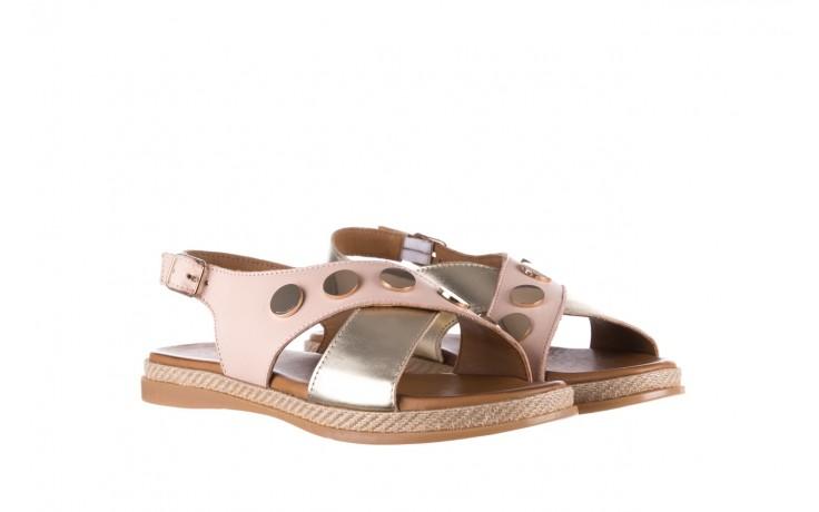 Sandały bayla-176 117 różowy złoty, skóra naturalna  - bayla - nasze marki 1