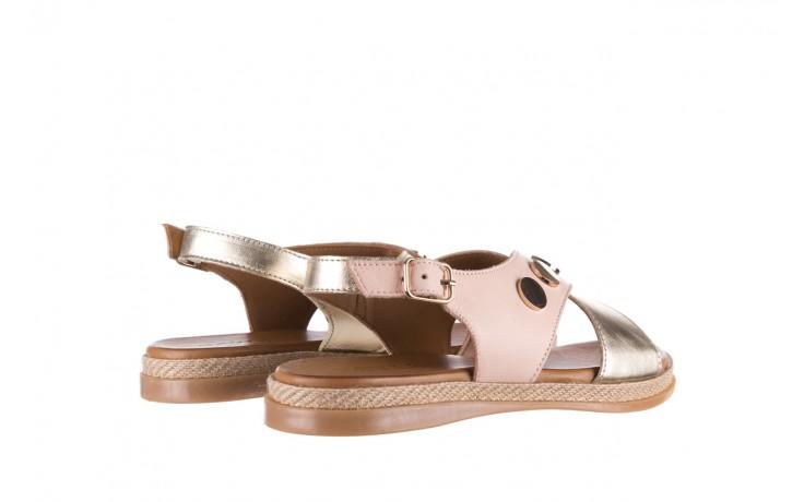 Sandały bayla-176 117 różowy złoty, skóra naturalna  - bayla - nasze marki 3