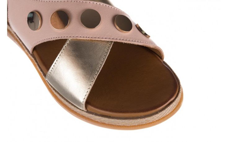 Sandały bayla-176 117 różowy złoty, skóra naturalna  - bayla - nasze marki 5
