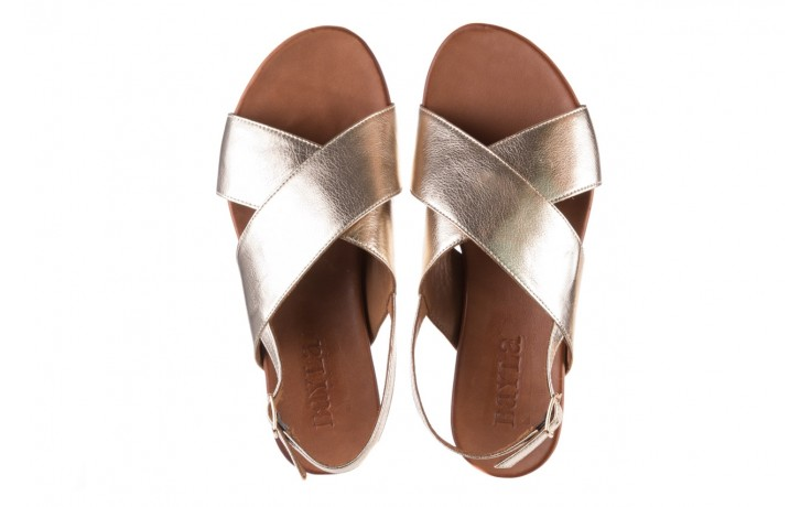 Sandały bayla-176 8641 złoty, skóra naturalna  - bayla - nasze marki 4