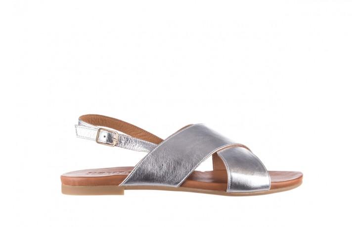 Sandały bayla-176 8641 silver, srebrny, skóra naturalna  - bayla - nasze marki