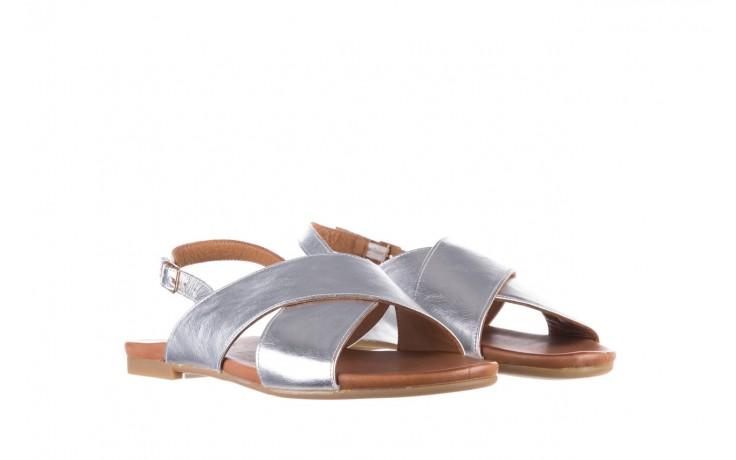 Sandały bayla-176 8641 silver, srebrny, skóra naturalna  - bayla - nasze marki 1