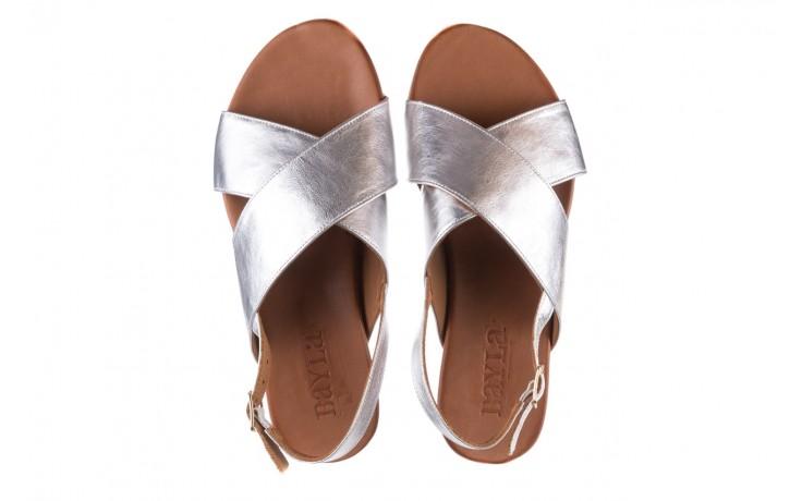 Sandały bayla-176 8641 silver, srebrny, skóra naturalna  - bayla - nasze marki 4