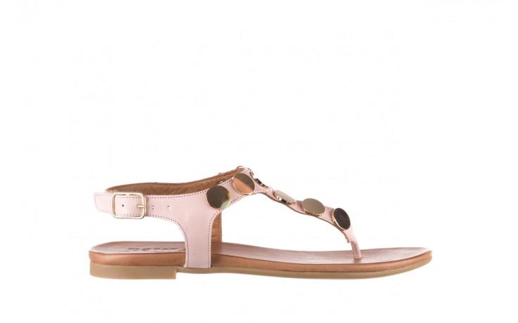 Sandały bayla-176 8643 różowy, skóra naturalna  - japonki - sandały - buty damskie - kobieta