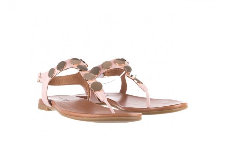 Sandały bayla-176 8643 różowy, skóra naturalna  - japonki - sandały - buty damskie - kobieta 1