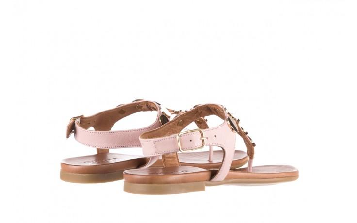 Sandały bayla-176 8643 różowy, skóra naturalna  - japonki - sandały - buty damskie - kobieta 3