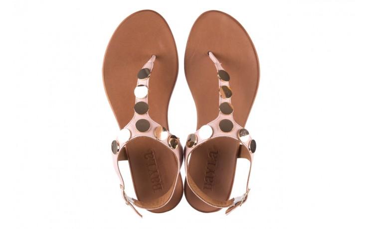 Sandały bayla-176 8643 różowy, skóra naturalna  - japonki - sandały - buty damskie - kobieta 4
