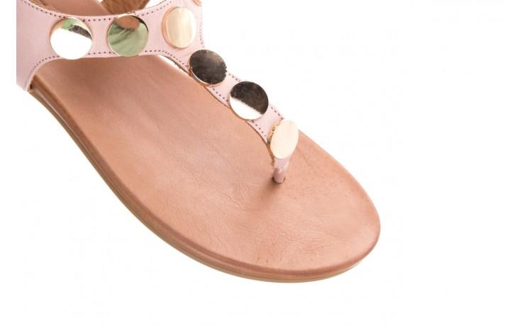 Sandały bayla-176 8643 różowy, skóra naturalna  - japonki - sandały - buty damskie - kobieta 5
