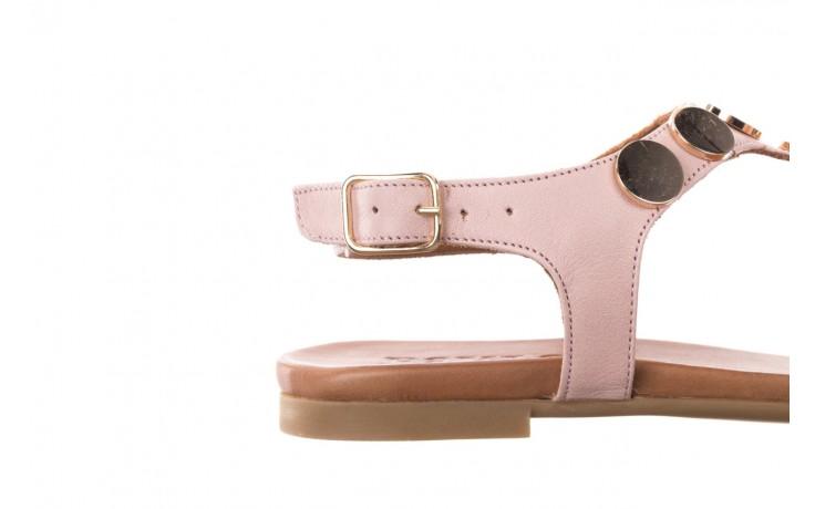 Sandały bayla-176 8643 różowy, skóra naturalna  - bayla - nasze marki 6