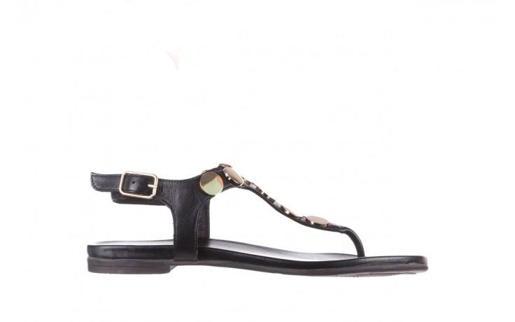 Sandały bayla-176 8643 czarny, skóra naturalna  - japonki - sandały - buty damskie - kobieta