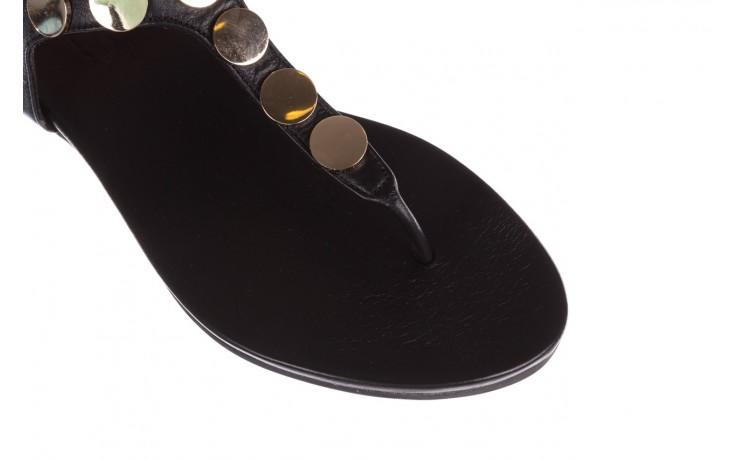 Sandały bayla-176 8643 czarny, skóra naturalna  - japonki - sandały - buty damskie - kobieta 5