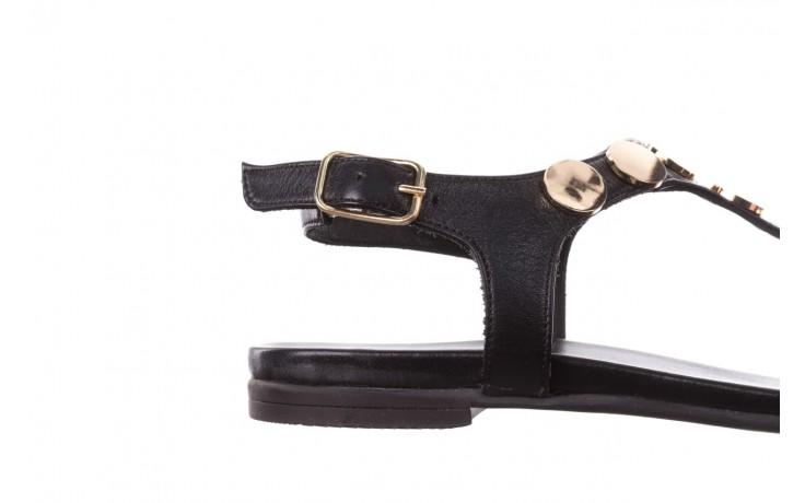 Sandały bayla-176 8643 czarny, skóra naturalna  - japonki - sandały - buty damskie - kobieta 6