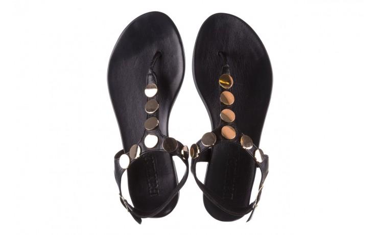 Sandały bayla-176 8643 czarny, skóra naturalna  - japonki - sandały - buty damskie - kobieta 4