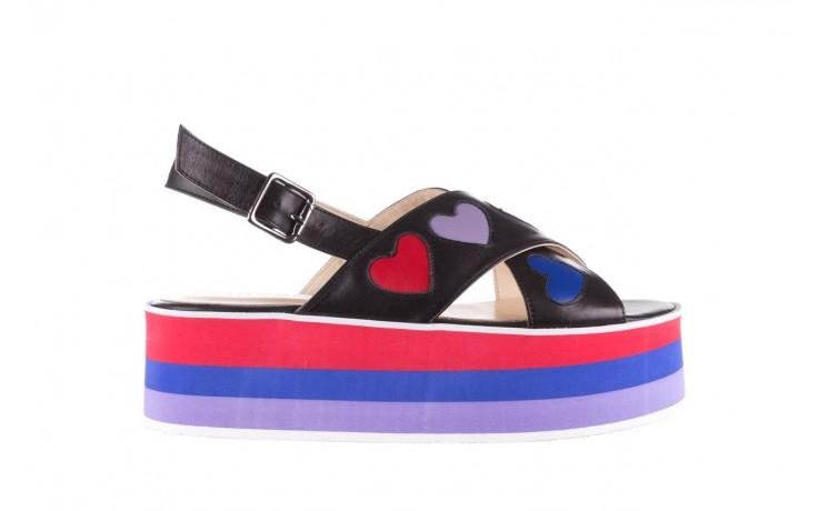 Sandały bayla-176 19136 czarny, skóra naturalna  - na platformie - sandały - buty damskie - kobieta