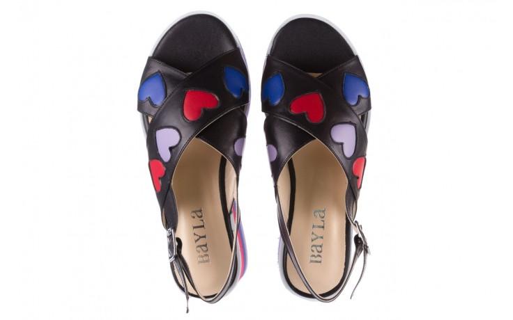 Sandały bayla-176 19136 czarny, skóra naturalna  - na platformie - sandały - buty damskie - kobieta 4